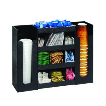DRMDLCO5BT - Dispense-Rite - DLCO-5BT - Six Section Cup, Lid And Condiment Organizer Product Image