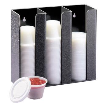 CLM2784 - Cal-Mil - 278-4 - 3 Section 4 in Ramekin and Lid Dispenser Product Image