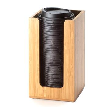 CLM29860 - Cal-Mil - 298-60 - 4 in x 4 in Bamboo Lid Dispenser Product Image