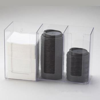 CLM37512 - Cal-Mil - 375-12 - 3 Section Napkin and Lid Dispenser Product Image