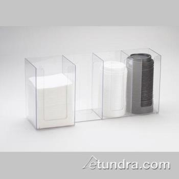 76560 - Cal-Mil - 376-12 - 4 Section Napkin and Lid Dispenser Product Image