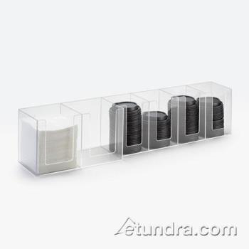 CLM37712 - Cal-Mil - 377-12 - 6 Section Napkin and Lid Dispenser Product Image