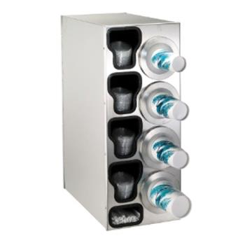 DRMBFLC4RSS - Dispense-Rite - BFL-C-4RSS - Stainless Steel Countertop Cup Dispensing Cabinet Product Image