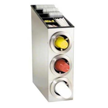 DRMCTCL3SS - Dispense-Rite - CTC-L-3SS - Stainless Steel Countertop Cup Dispensing Cabinet Product Image