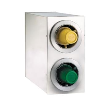 DRMCTCR2SS - Dispense-Rite - CTC-R-2SS - S/S Countertop Cup Dispensing Cabinet With 2 ADJ-2F Product Image