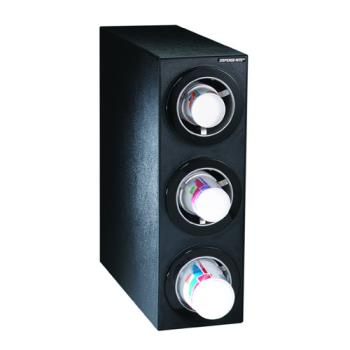 DRMCTCS3BT - Dispense-Rite - CTC-S-3BT - Black Polystyrene Countertop Cup Dispensing Cabinet With (3) ADJ-2F Product Image