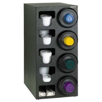 DRMSTLC4RBT - Dispense-Rite - STL-C-4RBT - Black Polystyrene Countertop Cup Dispensing Cabinet Product Image