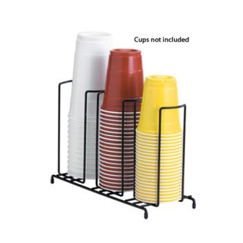 59267 - Dispense-Rite - WR-3 - 3-Section Wire Cup/Lid Dispenser Product Image