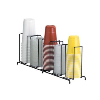 76582 - Dispense-Rite - WR-5 - 5-Section Wire Cup/Lid Dispenser Black Product Image