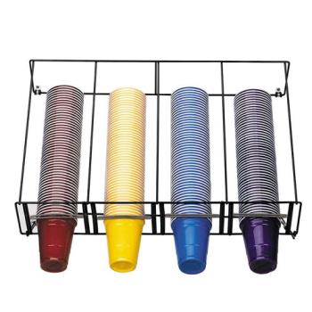 DRMWRCTOVRHD - Dispense-Rite - WR-CT-OVRHD - Horizontal Overhead Wire Rack Cup Dispenser Product Image