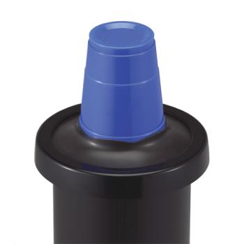 SANC2410CBK - San Jamar - C2410CBK - EZ-Fit®  8-46 Oz Cup Dispenser w/Black Gasket Product Image