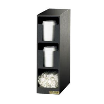 76176 - San Jamar - L2202 - 3-Section EZ-Fit® Lid/Straw Dispenser Product Image