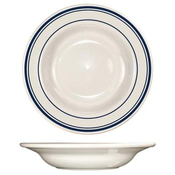 ITWCT3 - ITI - CT-3 - 12 Oz Catania™ Deep Rim Soup Bowl With Blue Band Product Image