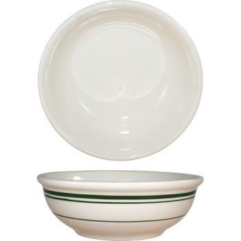 ITWVE18 - ITI - VE-18 - 16 Oz Verona™ Nappie Bowl With Green Band Product Image