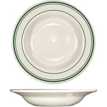 ITWVE3 - ITI - VE-3 - 12 Oz Verona™ Deep Rim Soup Bowl With Green Band Product Image