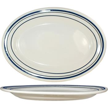 ITWCT19 - ITI - CT-19 - 15 1/2 in x 10 1/2 in Catania™ Platter With Blue Band Product Image