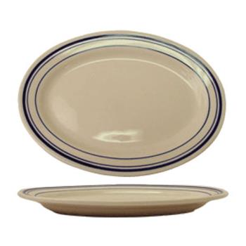 ITWCT34 - ITI - CT-34 - 9 3/8 in x 6 5/16 in Catania™ Platter With Blue Band Product Image