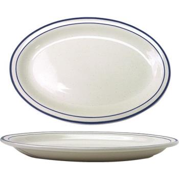 ITWDA51 - ITI - DA-51 - 15 1/2 in x 11 3/4 in Danube™ Blue Speckled Platter Product Image