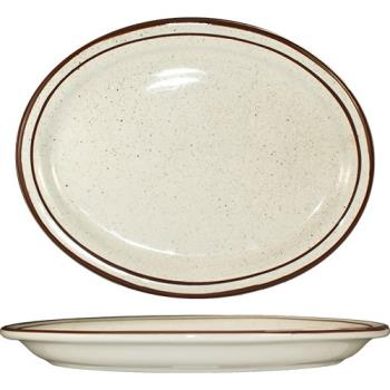 ITWGR14 - ITI - GR-14 - 13 1/4 in x 10 3/8 Granada™ Brown Speckled Platter Product Image
