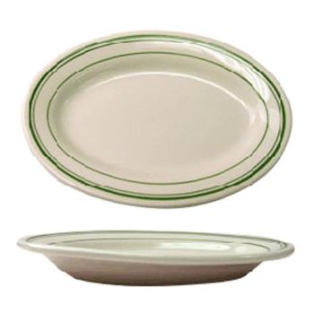 ITWVE33 - ITI - VE-33 - 7 in x 4 1/2 Platter With Green Band Product Image
