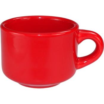 ITWCA23CR - ITI - CA-23-CR - 7 1/2 oz Cancun™ Crimson Red Stackable Teacup Product Image