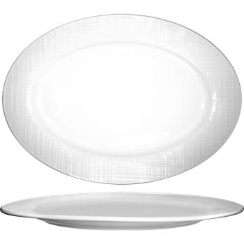 ITIDR12 - ITI - DR-12 - 10 1/8 in Dresden Porcelain Platter Product Image