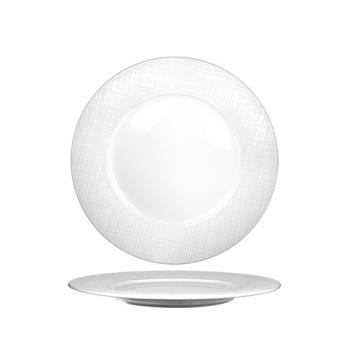 ITIDR16 - International Tableware - DR-16 - 10 3/8 in Dresden Porcelain Plate Product Image