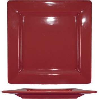 ITIEL10RH - ITI - EL-10-RH - 10 3/4 in Elite Harvest Red Square Plate Product Image