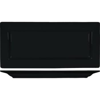 ITIEL17BL - ITI - EL-17-BL - 11 in Elite Harvest Black Rectangle Platter Product Image