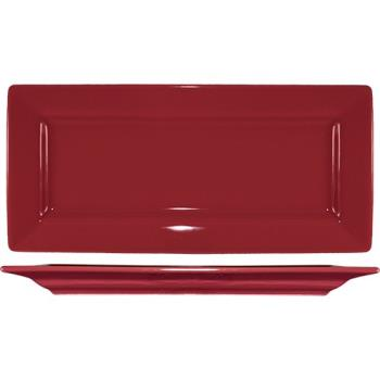 ITIEL17RH - ITI - EL-17-RH - 11 in Elite Harvest Red Rectangle Platter Product Image