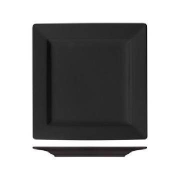 ITIEL40BL - International Tableware - EL-40-BL - 12 in Elite Harvest Black Square Plate Product Image