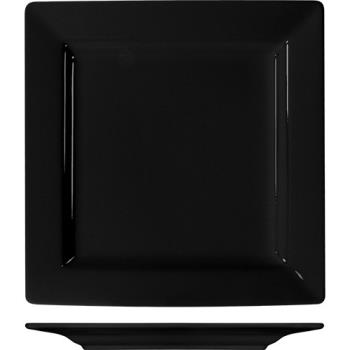 ITIEL40BL - ITI - EL-40-BL - 12 in Elite Harvest Black Square Plate Product Image