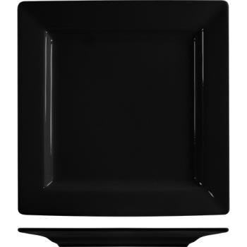 ITIEL9BL - ITI - EL-9-BL - 9 1/8 in Elite Harvest™ Black Square Plate Product Image