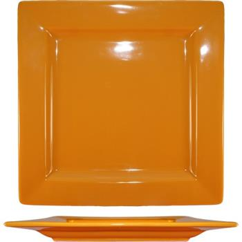 ITIEL9BN - ITI - EL-9-BN - 9 1/8 in Elite Harvest™ Orange Square Plate Product Image