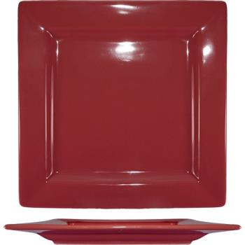 ITIEL9RH - ITI - EL-9-RH - 9 1/8 in Elite Harvest™ Red Square Plate Product Image