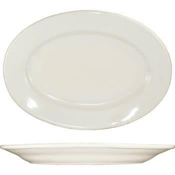 59105 - ITI - RO-12 - 10 3/8 in x 7 1/4 Roma™ American White Platter With Rolled Edging Product Image