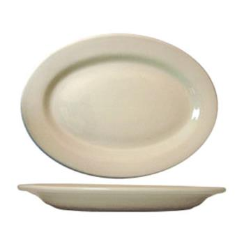59107 - ITI - RO-14 - 12 1/2 in x 9 Roma™ American White Platter With Rolled Edging Product Image