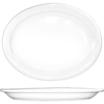 59142 - ITI - BR-12 - 9 3/4 in x 7 7/16 in Brighton™ Porcelain Platter Product Image