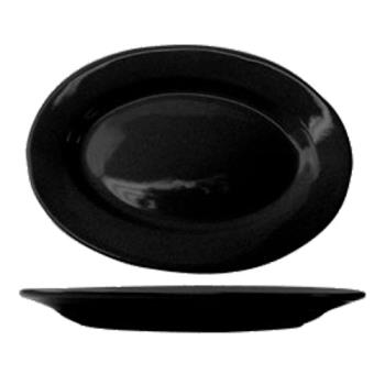 ITWCA12B - ITI - CA-12-B - 10 3/8 in x 7 1/4 in Cancun™ Black Platter With Rolled Edging Product Image