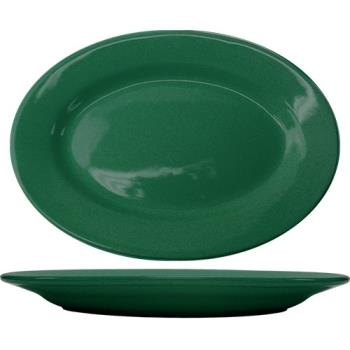ITWCA12G - ITI - CA-12-G - 10 3/8 in x 7 1/4 in Cancun™ Green Platter With Rolled Edging Product Image