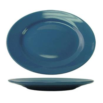 ITWCA12LB - ITI - CA-12-LB - 10 3/8 in x 7 1/4 in Cancun™ Light Blue Platter with Rolled Edging Product Image