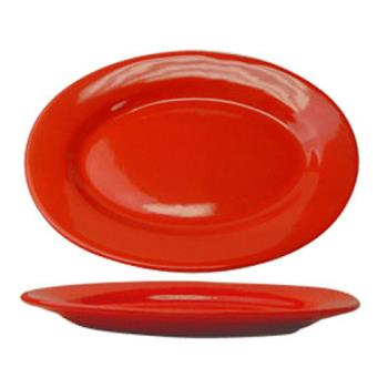 ITWCA13CR - ITI - CA-13-CR - 11 1/2 in x 8 1/4 in Cancun™ Crimson Red Platter With Rolled Edging Product Image