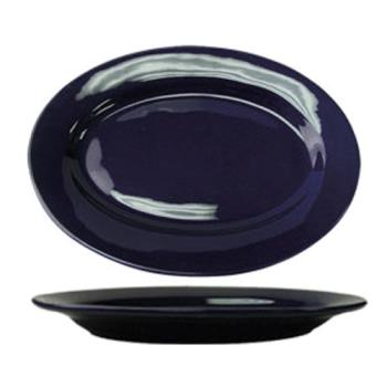 ITWCA14CB - ITI - CA-14-CB - 12 1/2 in x 9 in Cancun™ Cobalt Platter With Rolled Edging Product Image
