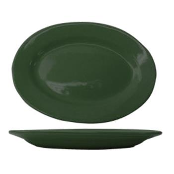 ITWCA14G - ITI - CA-14-G - 12 1/2 in x 9 in Cancun™ Green Platter With Rolled Edging Product Image