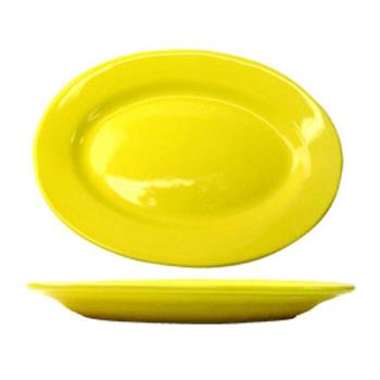 ITWCA14Y - ITI - CA-14-Y - 12 1/2 in x 9 in Cancun™ Yellow Platter With Rolled Edging Product Image
