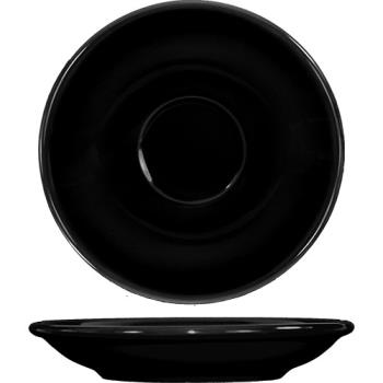 ITWCA36B - ITI - CA-36-B - 5 1/5 in Cancun™ Black A.D. Saucer With Rolled edging Product Image