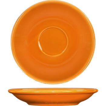 ITWCA36O - ITI - CA-36-O - 5 1/5 in Cancun™ Orange A.D. Saucer With Rolled edging Product Image
