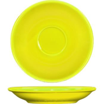 ITWCA36Y - ITI - CA-36-Y - 5 1/5 in Cancun™ Yellow A.D. Saucer With Rolled edging Product Image