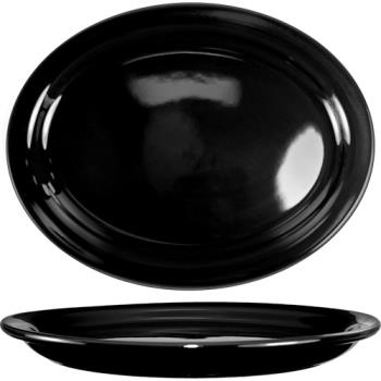 ITWCAN12B - ITI - CAN-12-B - 9 3/4 in x 7 in Cancun™ Black Platter With Narrow Rim Product Image