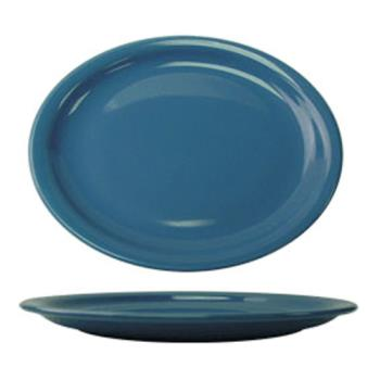 ITWCAN12LB - ITI - CAN-12-LB - 9 3/4 in x 7 in Cancun™ Light Blue Platter With Narrow Rim Product Image